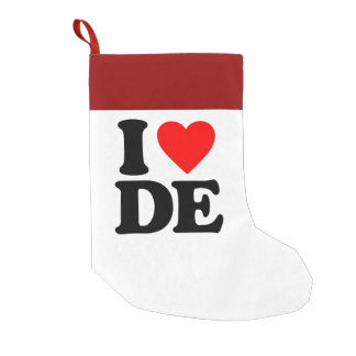 I LOVE DE SMALL CHRISTMAS STOCKING