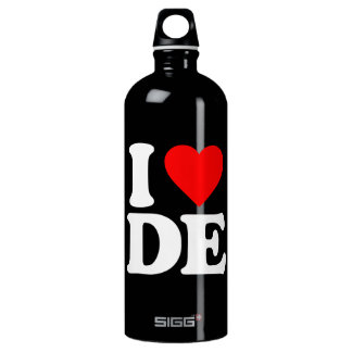 I LOVE DE WATER BOTTLE