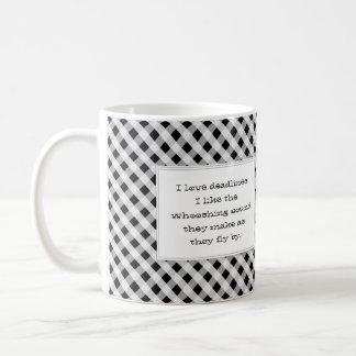 I love deadlines funny office basic white mug