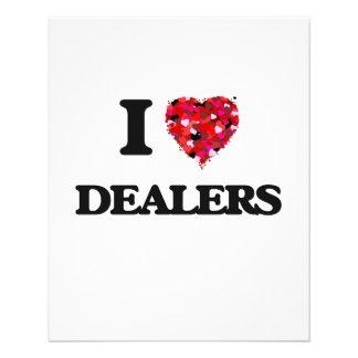 I love Dealers 11.5 Cm X 14 Cm Flyer