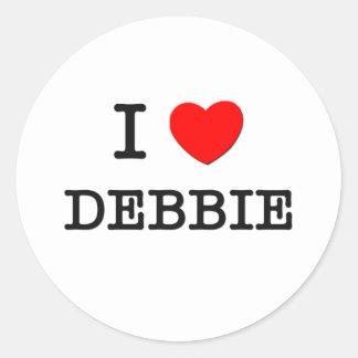 I Love Debbie Round Sticker