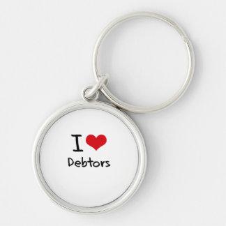 I Love Debtors Key Chains