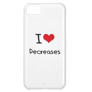 I Love Decreases iPhone 5C Cases