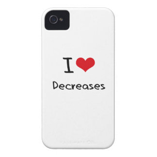 I Love Decreases iPhone 4 Cover