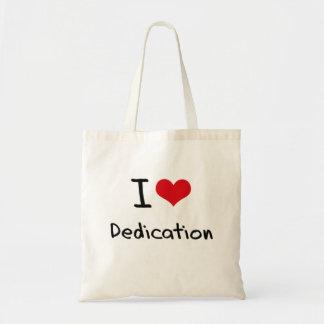 I Love Dedication Budget Tote Bag