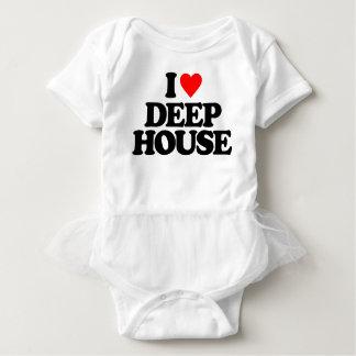I LOVE DEEP HOUSE BABY BODYSUIT