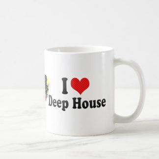 I Love Deep House Basic White Mug
