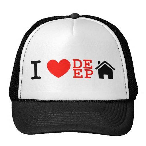 I love deep house music dj baseball cap trucker hats zazzle for I love deep house music