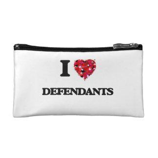 I love Defendants Cosmetic Bags