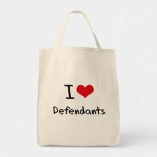 I Love Defendants Tote Bags