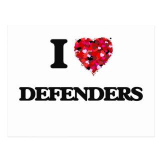 I love Defenders Postcard