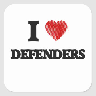 I love Defenders Square Sticker
