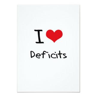 I Love Deficits Invitation