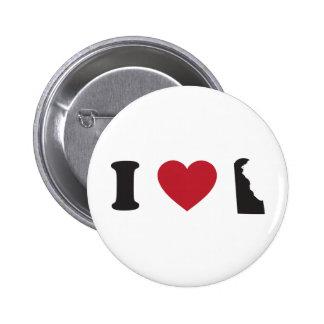 I Love Delaware 6 Cm Round Badge