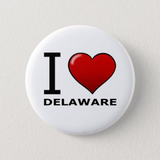I LOVE DELAWARE 6 CM ROUND BADGE