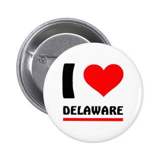 I love Delaware Pinback Button