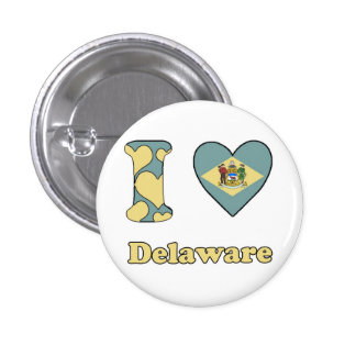 I love Delaware 3 Cm Round Badge