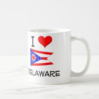 I Love Delaware Ohio Basic White Mug