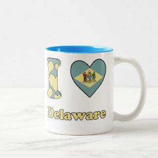 I love Delaware Two-Tone Coffee Mug