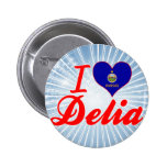 I Love Delia, Kansas Buttons