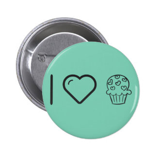 I Love Delicous Cupcakes 6 Cm Round Badge