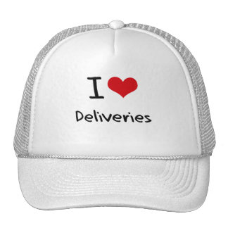 I Love Deliveries Trucker Hats