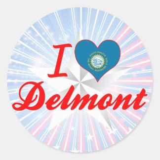 I Love Delmont, South Dakota Stickers
