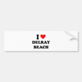 I Love Delray Beach Bumper Sticker