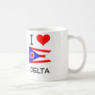I Love Delta Ohio Basic White Mug