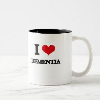 I Love DEMENTIA Two-Tone Coffee Mug