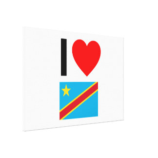 i love democratic republic of the congo stretched canvas prints
