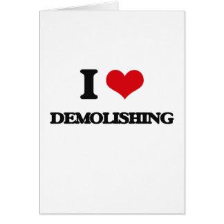 I love Demolishing Greeting Cards
