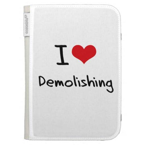 I Love Demolishing Kindle Folio Case