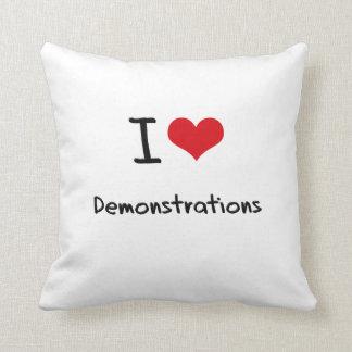 I Love Demonstrations Throw Cushions