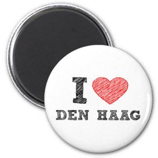 I love Den Haag 6 Cm Round Magnet