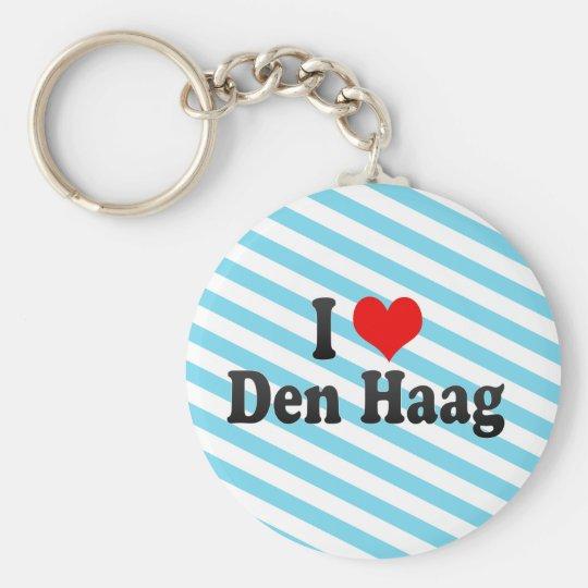 I Love Den Haag, Netherlands Basic Round Button Key Ring