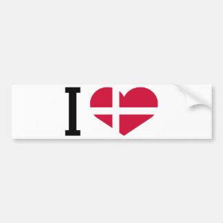 I love Denmark Bumper Sticker