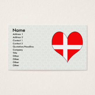 I Love Denmark Business Card