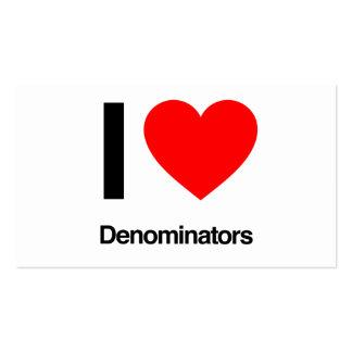 i love denominators pack of standard business cards