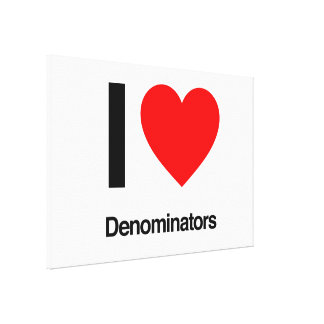 i love denominators gallery wrapped canvas