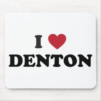 I Love Denton Texas Mouse Pad