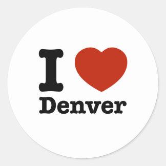 I Love denver Classic Round Sticker