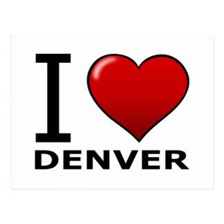 I LOVE DENVER,CO - COLORADO POSTCARD