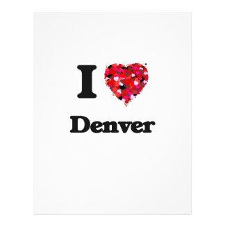 I love Denver Colorado 21.5 Cm X 28 Cm Flyer