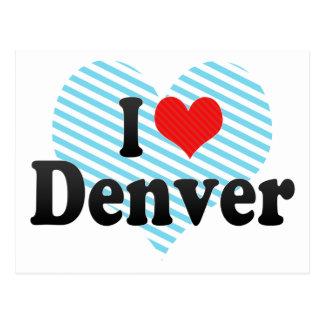 I Love Denver Postcard