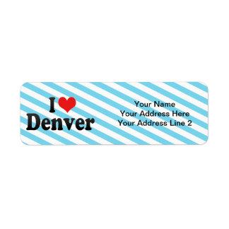 I Love Denver Return Address Label