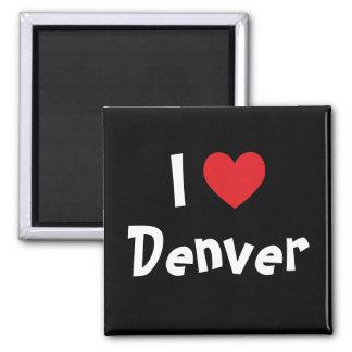 I Love Denver Square Magnet
