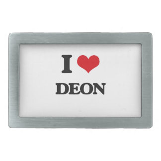 I Love Deon Rectangular Belt Buckle