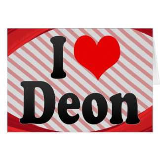 I love Deon Cards