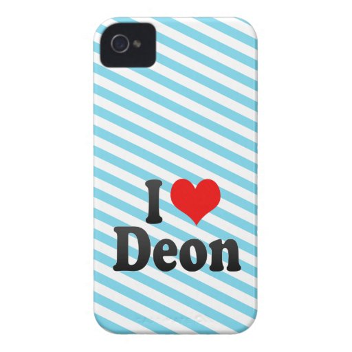I love Deon Case-Mate Blackberry Case